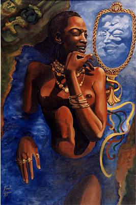 Oshun Painting - Birth Of Oshun by Karmella Haynes