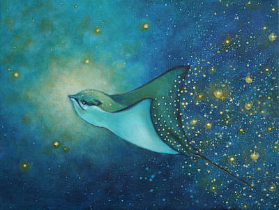 Eagle Ray Painting - Birth Of Stars by Christina Gage
