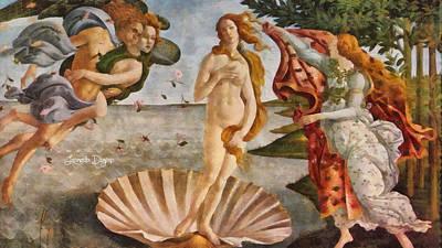 Painted Digital Art - Birth Of Venus By Sandro Botticelli Revisited - Da by Leonardo Digenio