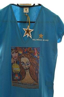 Botticelli Mixed Media - Birth Of Venus Exclusive T-shirt Hollywood-milano by Francesco Martin