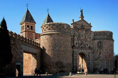 Bisagra Gate Toledo Spain Print by Joan Carroll