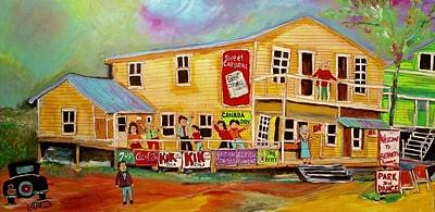 Painting - Bishinsky's Dancehall Shawbridge 1950's by Michael Litvack