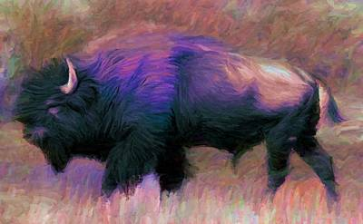 Bison Digital Art - Bison 1 by Caito Junqueira