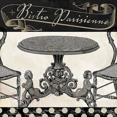 Eating Painting - Bistro Parisienne II by Mindy Sommers