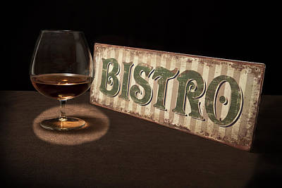 Glasses Photograph - Bistro Still Life I by Tom Mc Nemar