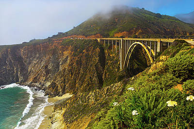 Coast Highway One Photograph - Bixby Bridge Big Sur by Garry Gay