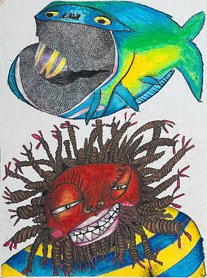 Bk-fish  Print by Billy Knows