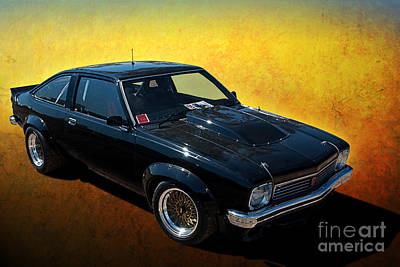 Muscle Car Masters Photograph - Black A9x by Stuart Row