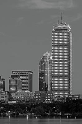 Boston Photograph - Black And White Boston By Night by Juergen Roth