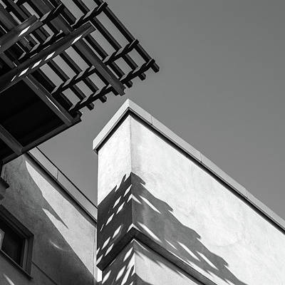 Digital Art - Black And White, Buildings And  Shadow by Toppart Sweden