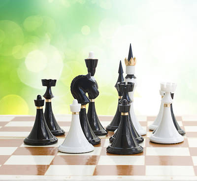 Black And White Chess Print by Anastasy Yarmolovich