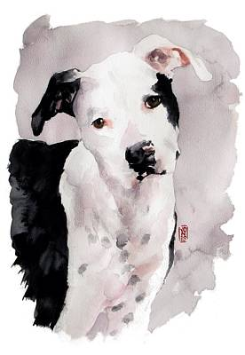 Black And White Pit Print by Debra Jones