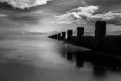 Essex Photograph - Black And White Seascape by Martin Newman
