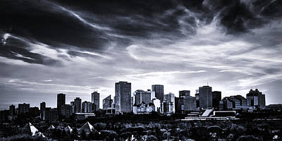 Alberta Photograph - Black And White Skyline by Ian MacDonald
