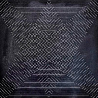 Modern Mixed Media - Black And White Triangular Line Art by Brandi Fitzgerald