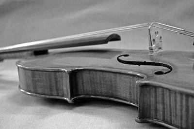 Black And White Violin Print by Gabe Knowls
