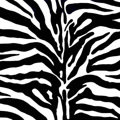 Zebra Painting - Black And White Zebra  by Doug Powell