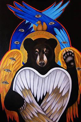 Black Bear Seraphim Print by Christina Miller