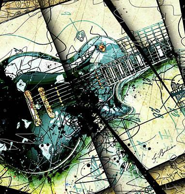 Van Halen Digital Art - Black Beauty C 1  by Gary Bodnar