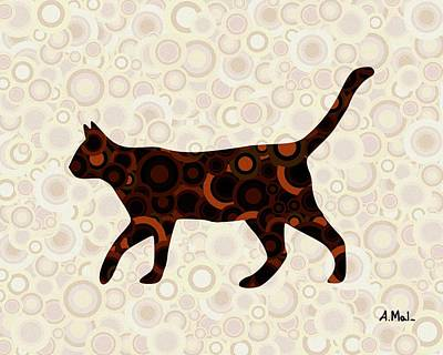 Black Cat - Animal Art Print by Anastasiya Malakhova