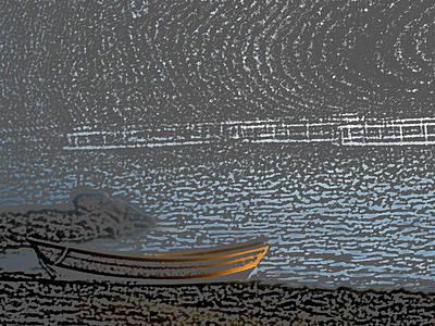 Black Harbour Nb Print by Roger Charlebois