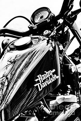Cylinder Photograph - Black Harley by Tim Gainey