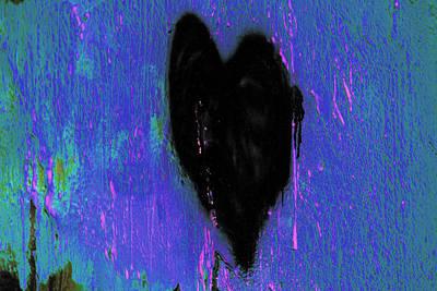 Black Heart Print by Marnie Patchett