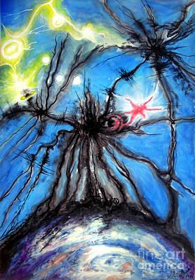 Rare Moments Painting - Black Hole Eating Itself by Sofia Goldberg
