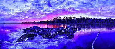 Manipulation Photograph - Black Ice At Twilight by Bill Caldwell -        ABeautifulSky Photography