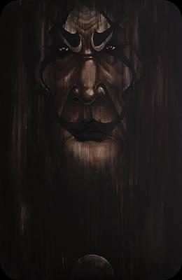 Joker Painting - Black Joker by NAIDANDORJ Enkhbaatar