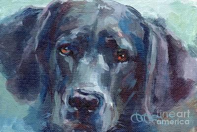 Labrador Retriever Art Painting - Black Lab Bandit by Kimberly Santini
