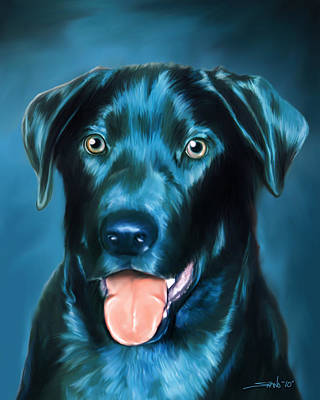 Michael Spano Painting - Black Lab by Michael Spano