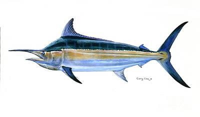 Black Marlin  Print by Carey Chen