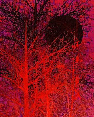 Black Moon Print by Richard Rizzo