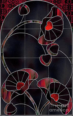 Black Poppies Print by Mindy Sommers