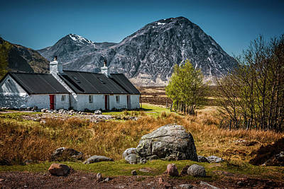 Photograph - Black Rock Cottage By The Roadside Rannoch Moor by Alex Saunders
