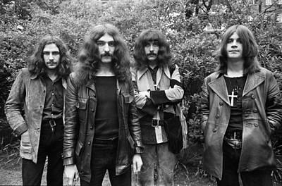 Singer Photograph - Black Sabbath 1970 #2 by Chris Walter