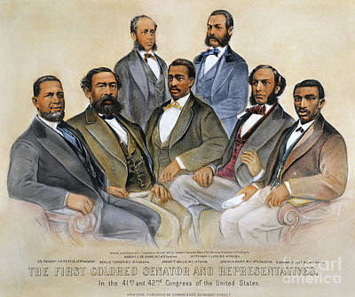 1800s Photograph - Black Senators, 1872 by Granger