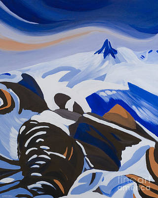 Whistler Painting - Black Tusk by Ginevre Smith