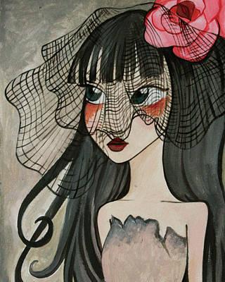 Black Widow Print by Dania Piotti
