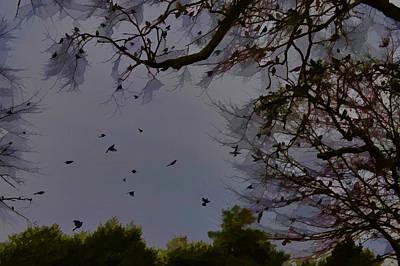 Alabama Photograph - Blackbirds Evening Gathering by Lesa Fine