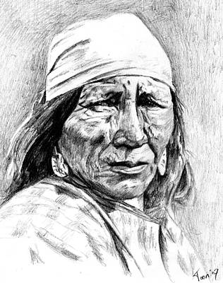 Blackfoot Woman Print by Toon De Zwart