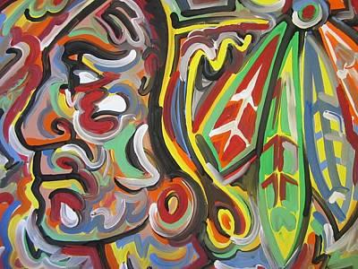 Blackhawk Painting - Blackhawks Pride by Blackwater Studio