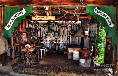 Blacksmith Shop By Kaye Menner Print by Kaye Menner