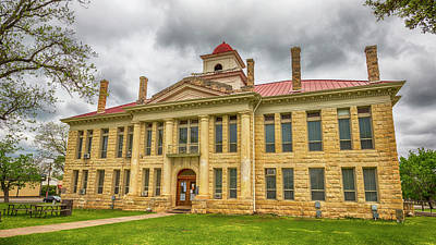 Blanco County Tx Courthouse  Print by Stephen Stookey