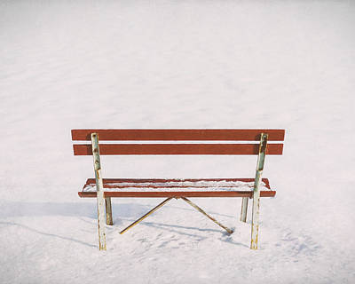 Framed Winter Snow Photograph - Blank Slate by Scott Norris