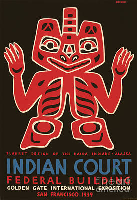Blanket Design Of The Haida Indians Print by Celestial Images