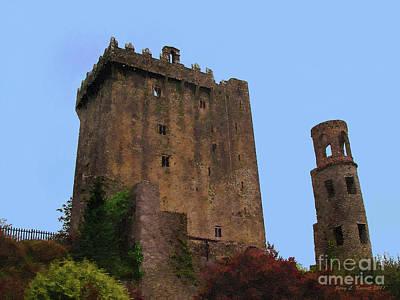 Ruins Mixed Media - Blarney Castle by Jerry L Barrett