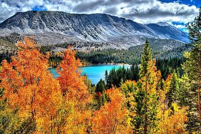 Autumn Photograph - Blazing Aspens At Rock Creek Lake by Lynn Bauer
