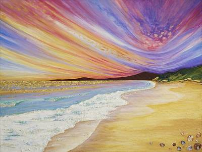 Passionate Painting - Blazing Sunset by Claire Johnson